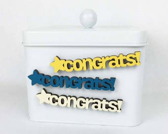 Congrats Magnet, Celebration Magnet, Office Magnets, Co-worker Magnet, Office Desk Magnets