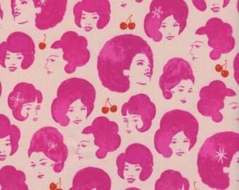 30% OFF Cotton + Steel Retro Ladies Pink Fruit Dots  - 1/2 Yard