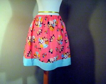Ladies Pink Tsum Tsum disney skirt, sizes Small thru plus size