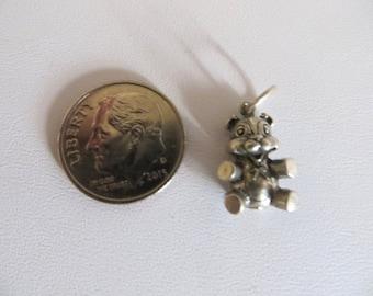 Teddy Bear Charm-Sterling Silver Charms