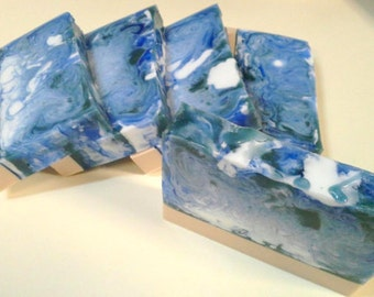South Pacific Soap - Goats Milk and Glycerin swirl bar