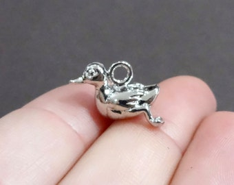 4, Duck, Duckling, Animal Charms  (3D) 19.5x12mm