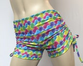 Hot Yoga Shorts - Easter Bunny - Peeps Candy - Low Rise Workout Shorts - Plus Size Workout - SXYfitness Brand