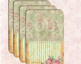 Wunderland Roses -  Printable Digital Collage Sheet - Digital Download - Wedding Printable - Journal - Scrapbook