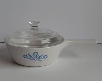 1 Pint P-18-B Cornflower Blue Corning Ware Sauce Pan with Lid