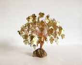 Gold Metal Dream Tree Sculpture