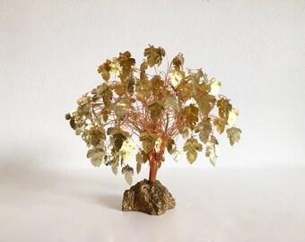 Gold Metal Dream Tree Sculpture