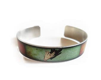 Shadow Puppet WOLF BIRD DEER cuff bracelet skinny thin
