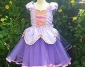RAPUNZEL dress, Princess dress, Rapunzel costume, Rapunzel party, birthday dress, toddlers girl dress, Rapunzel birthday, lavender