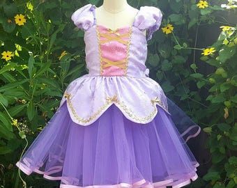 RAPUNZEL dress, Princess dress, Rapunzel costume, Rapunzel party, birthday dress, toddlers girl dress, Rapunzel birthday, lavender