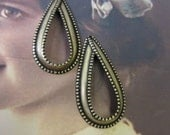 Brass Ox Tear Drop Earring Hoops 201BOX  x2