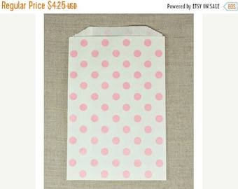 Spring Sale 10% off 20 pack Polka Dot 5 X 7.5 Inch Flat Paper Merchandise Bags