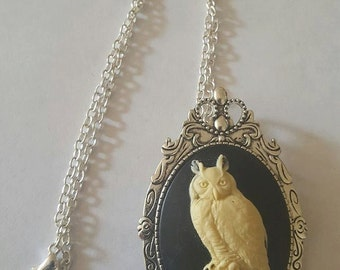 Owl necklace, Owl, Owl jewelry, Cameo, Cameo necklace, Gifts for her, MsFormaldehyde