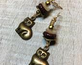 Fat Cats Dangle Earrings...