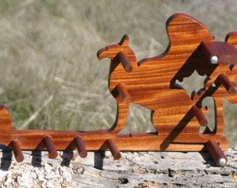 Card / Inkle weaving loom  - African Mahogany Gryphon