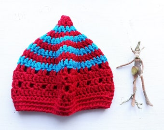 INKCAP Crochet Gnome Hat, Poppy, Turquoise