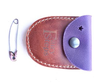 DUST tiny coin purse #3263 violet conker