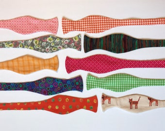 Sunday West - boys self-tie bow tie - M medium 10-12 years flowers tigers trees - ready to ship - free shipping