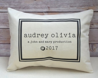 New baby, personalized pillow, trendy baby, twin baby gift, best selling baby gift, greatest adventure, best baby gift, twin shower gift