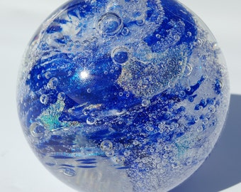 Glass Paperweight - Hand Blown - Free Shipping Dichroic Glass [stock# Ebpw-40 ]