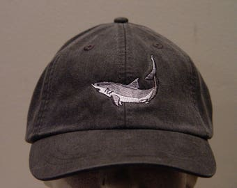 MAKO SHARK Hat - One Embroidered Wildlife Cap - Price Embroidery Apparel - 24 Color Caps Available