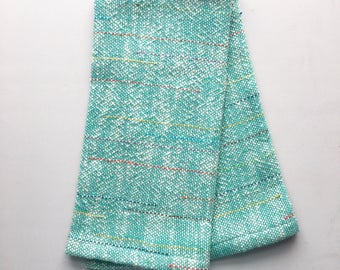 Turquoise Dish Towel Woven Towel