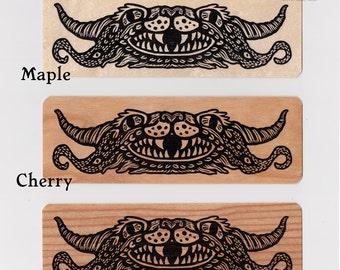 Chimera genuine wood veneer art bookmark 6 x 2 inches