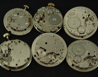 Vintage Antique Industrial Looking Watch Movements Steampunk Altered Art Assemblage DI 95