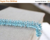 Final 51% off Sale Sky Blue Topaz Gemstone Faceted Rondelle 7mm 30 beads Wholesale