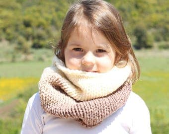 Kids cowl, brown, cowl, infinity scarf, toddler cowl, neck warmer, cowl scarf, kids scarf, toddler scarf, knitted scarf, warm