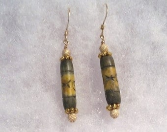 E1055 Carved Bone Earrings