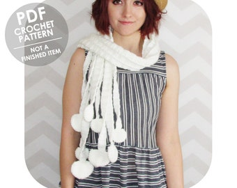 INSTANT DOWNLOAD - Mori girl enoki mushroom scarf - PDF crochet pattern