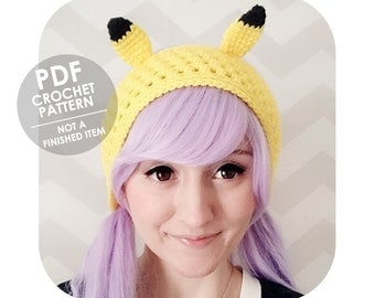 crochet pattern - pikachu headband - pokemon headband - crochet pikachu headband - crochet headband pattern - crochet headband