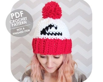 crochet pattern - ash ketchum pokemon inspired hat - knit look with pompom - INSTANT DOWNLOAD PDF - not a finished item