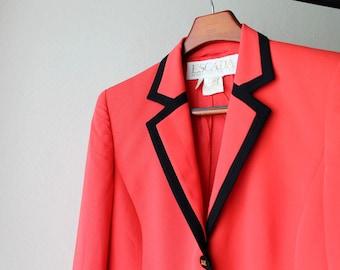 1990's Escada Coral Pink Blazer