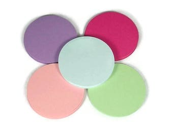 Paper Die Cut Circles  2 inch Circles in  Spring Quantity of 50