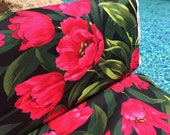 FQ ~ Half Yard ~ By the Yard ~ Ruby Tulips ~  Michael Miller Fabrics