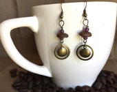 Coffee Bean Earrings - Bang A Gong - Authentic Fair Trade Coffee Bean Earrings...FREE U.S. SHIPPING