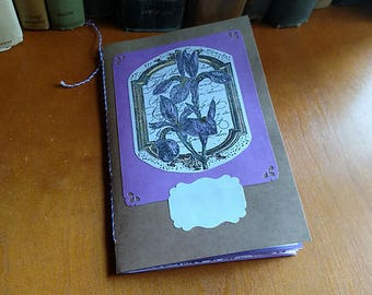 Purple Junk Journal Mini Book Decorated Pages Daybook