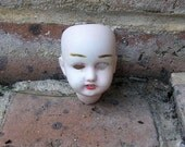 Antique German Doll Head Antique Frozen Charlotte German Doll Head Doll Parts Altered Art Jewelry Making Doll Head With Teeth