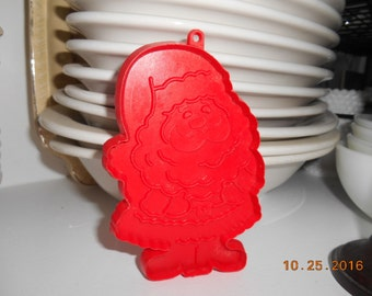 Vintage Hallmark Cards Christmas Santa Red Cookie Cutter with handle