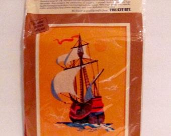 Sailboat  Cross Stitch Kit