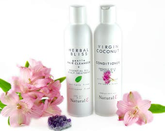 Haircare Set/ Natural Shampoo/ Natural Hair Conditioner