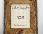 Custom Rustic Pine Guest Book Picture Frame