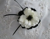 Custom order for....therqeb....Silk Purple and Cream White Anemone Bridal Bouquet Set