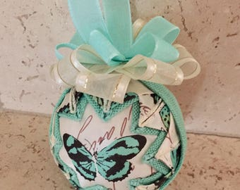 Butterfly quilted ornament