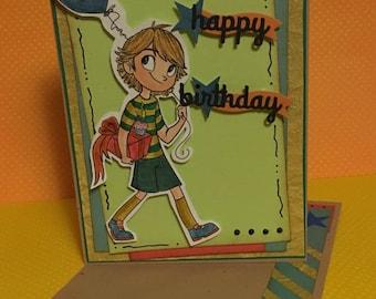 Happy Birthday 5x7 Blank Verse Greeting Card, Happy Birthday Greeting Card, Greeting Card With Matching Envelope