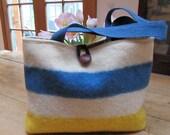 Vintage Wool Blanket Hudson Bay Style Handbag Tote Medium
