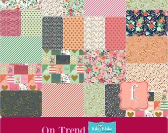 On Trend Jenn Allyson - 5 inch Stacker Charm Pack COMPLETE Bundle (42 Piece) Riley Blake Fabrics