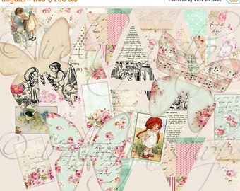 SALE PRETTY FINDS Collage Digital Images -printable download file-